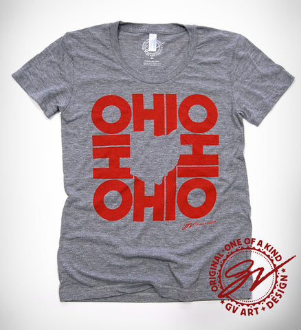 Womens All In Ohio T shirt