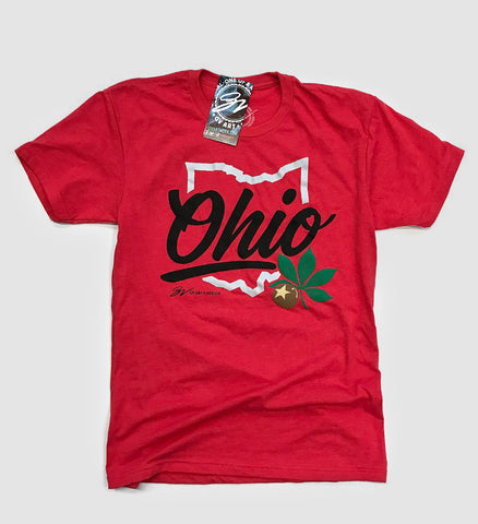 Script Ohio T shirt - Red