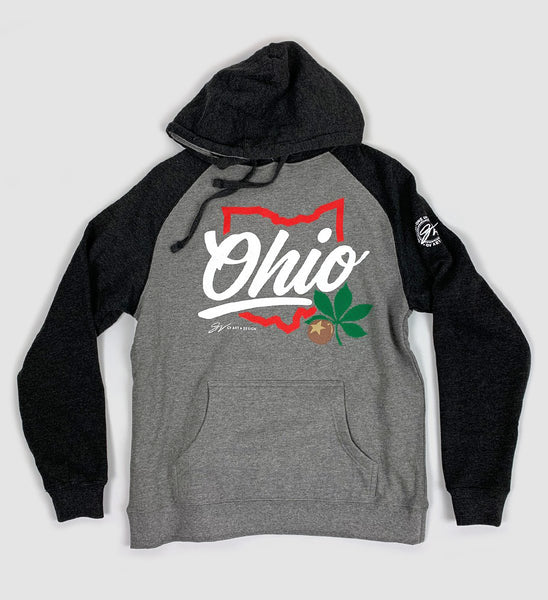 Script Ohio Two Tone Hooded Sweatshirt