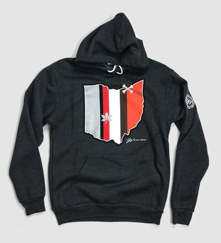 Ohio Stripes Football Hooded Sweatshirt