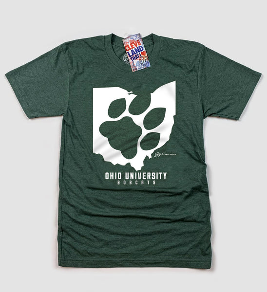 Ohio University Ohio Paw Print T shirt