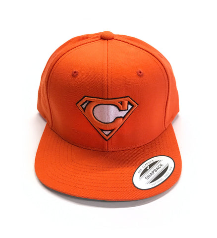 Super C Snap Back - Orange and Brown