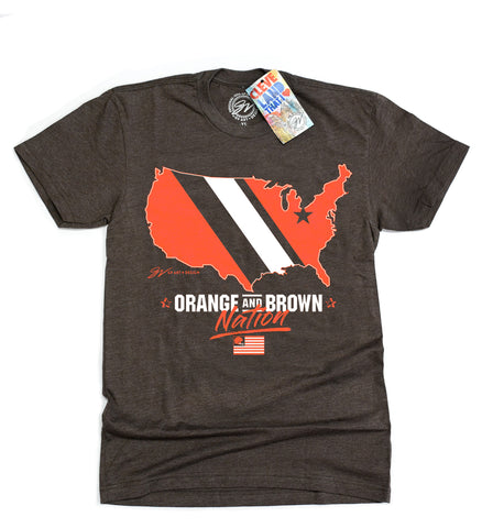 Orange and Brown Nation T shirt
