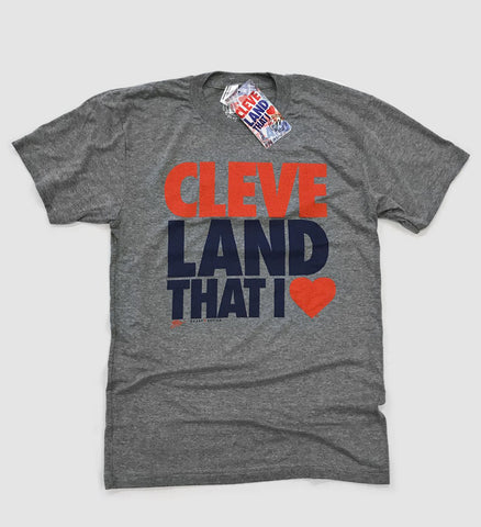 Cleveland T Shirt - Land That I Love - Grey