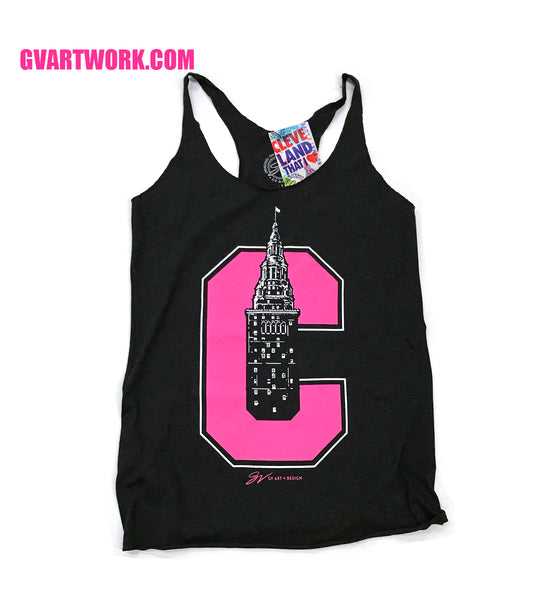 Pink Cleveland C Terminal Tower T tank