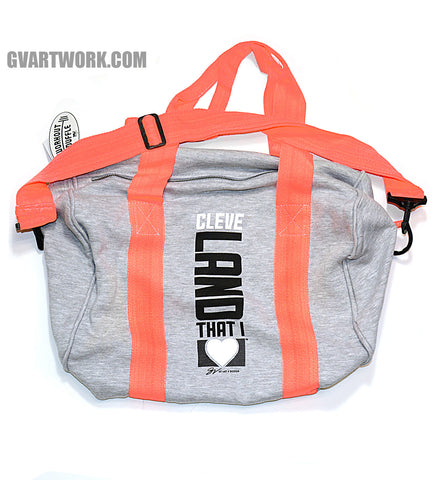 Cleveland That I Love Duffle bag - Coral/Grey