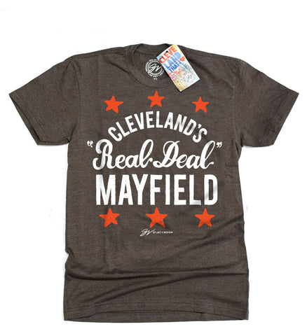 "Cleveland's The ""Real Deal"" Mayfield T shirt"