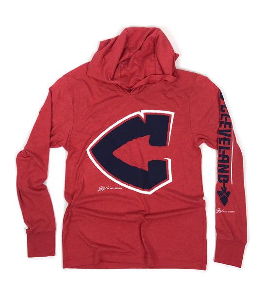 Arrowhead C Long Sleeve Hooded T shirt