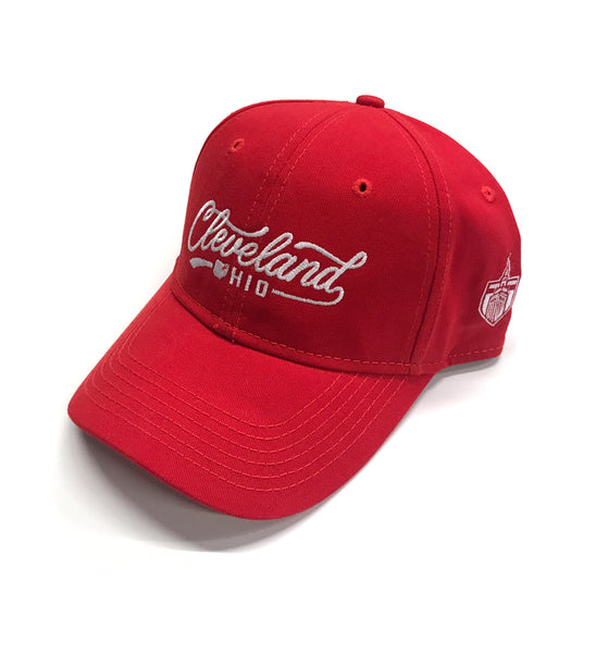 Red Script Cleveland Dad Hat