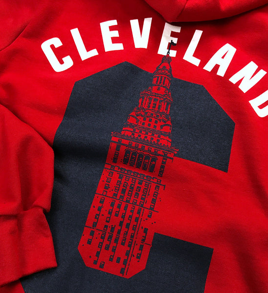 C Terminal Tower Red Zip Up Hooded Sweatshirt