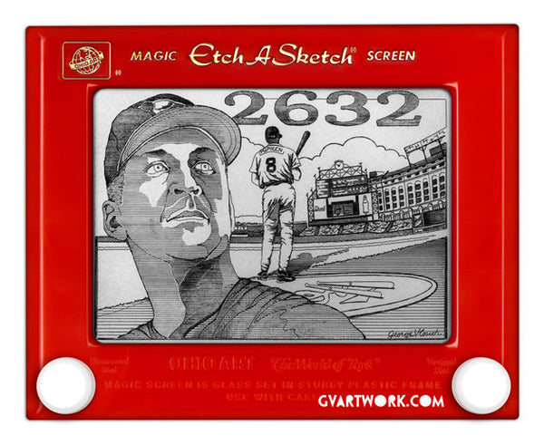 Limited Edition Cal Ripken Jr. Etch A Sketch Artwork