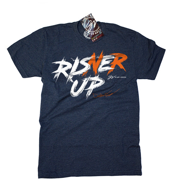 Risner Up T shirt - Blue/Orange