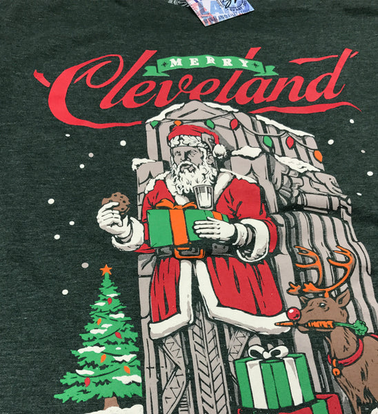 Merry Cleveland Santa Guardian T shirt