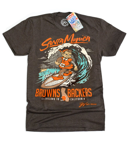Limited Edition Santa Monica Browns Backers T shirt