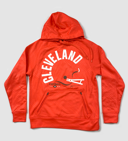 Cleveland Bold Type Helmet Hooded Sweatshirt