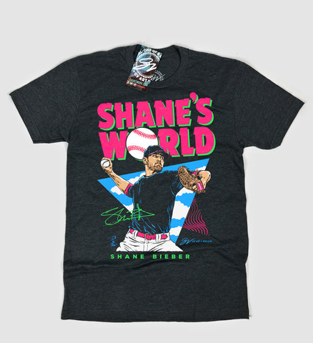 """Shane's World"" Shane Bieber T shirt"