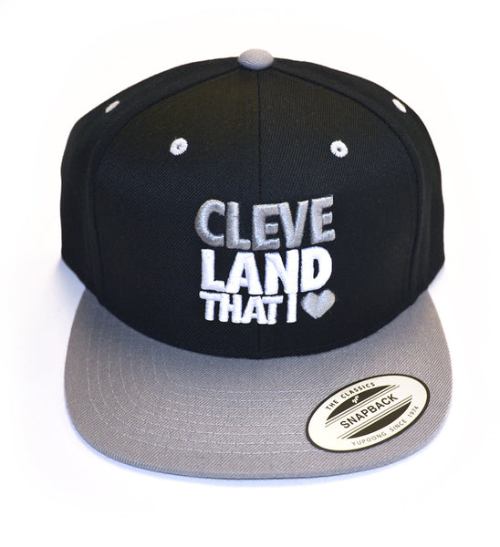 Cleveland That I Love Snap Back Hat Black/Silver