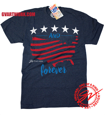 Stars and Stripes Forever USA T shirt