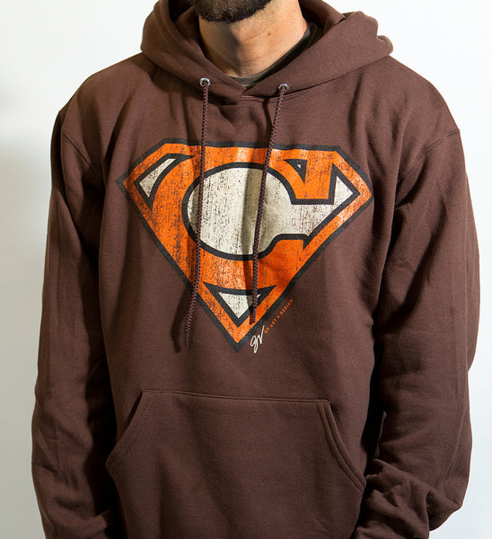 Super C Cleveland Orange and Brown Hoodie
