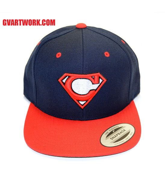 Cleveland Super C Snap Back Hat - Navy/Red