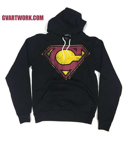 Black Cleveland Super C Wine and Gold Hoodie
