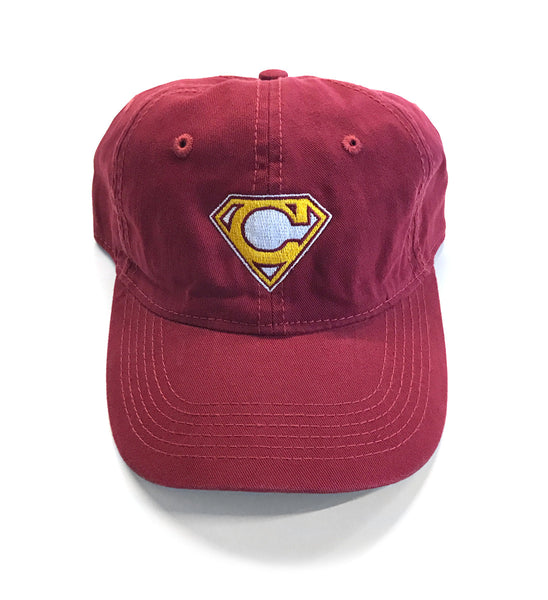 Cleveland Super C Dad Hat - Wine and Gold