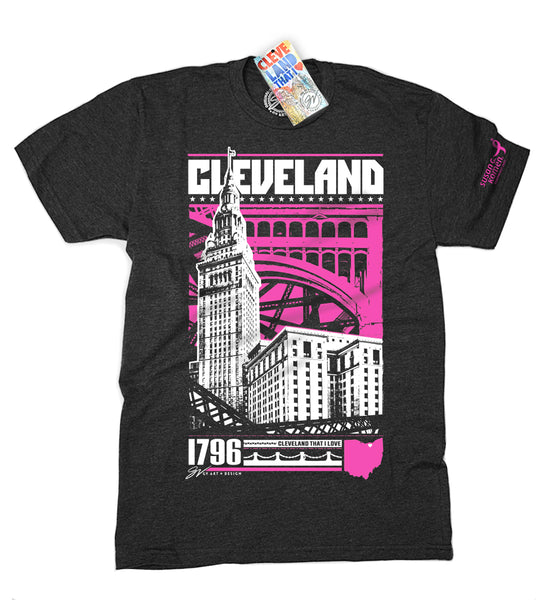 Pink Cleveland Bold Graphic T shirt