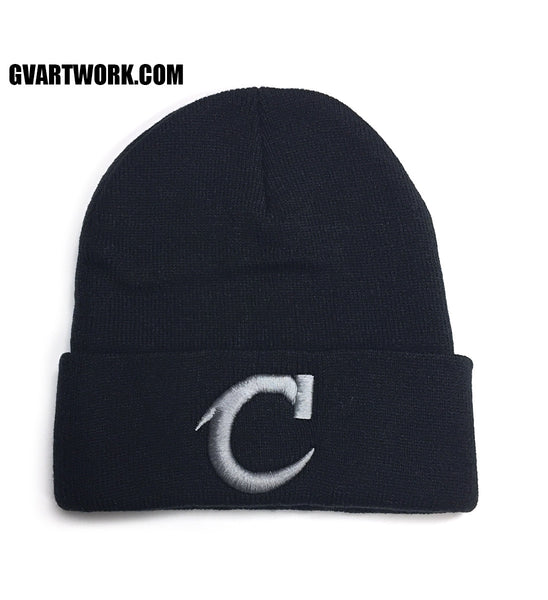 Team Cleveland C Black Winter Beanie