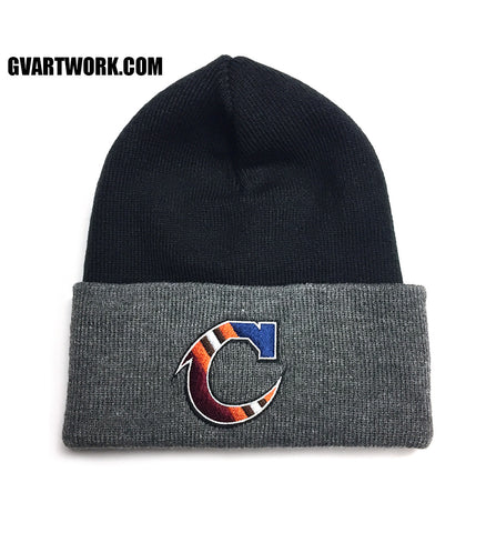 Team C Black and Grey Winter Beanie