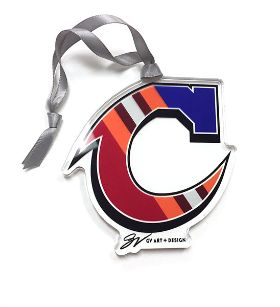 Team C Cleveland Clear Ornament