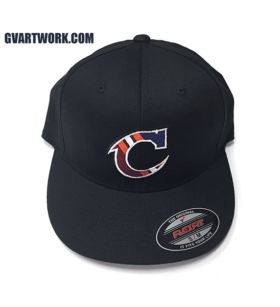 Flex Fit Team Cleveland C Fitted Black Hat