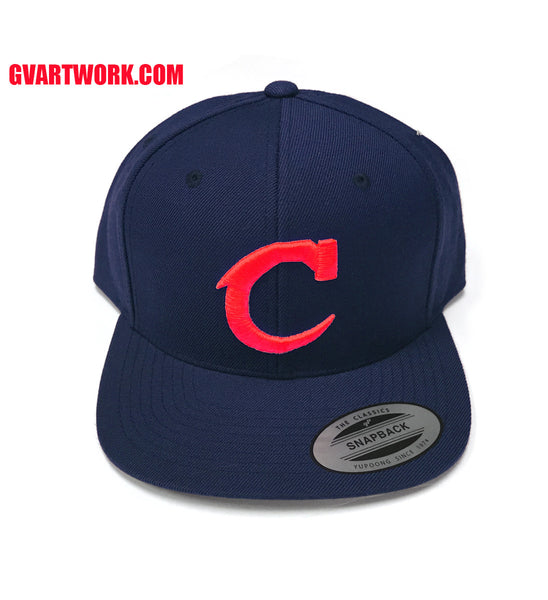 Navy Red Team Cleveland C Snap Back