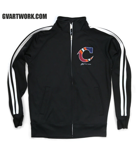 Black Team Cleveland C Striped Track Jacket