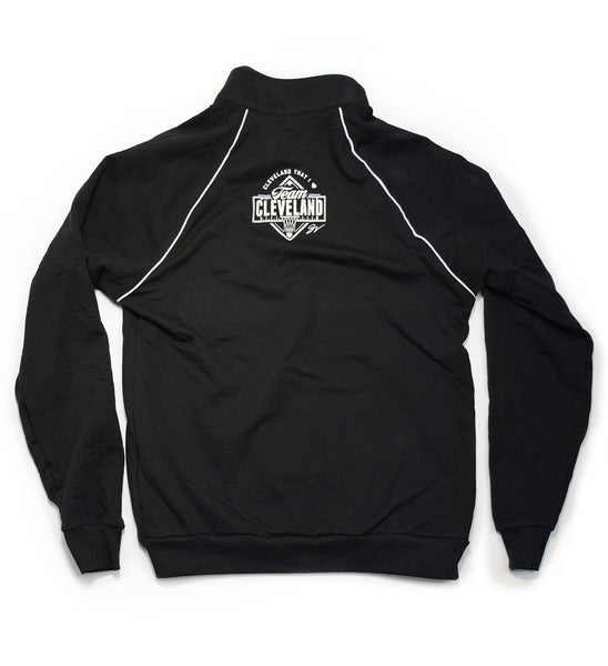 Team Cleveland C Black/White Track Jacket