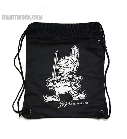 Team Cleveland Silver Drawstring Zip Bag