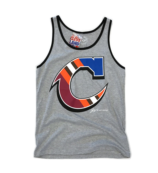 Team Cleveland C Black Trim Tank Top