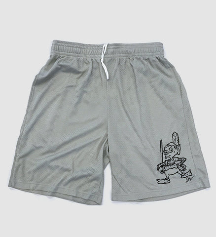 Team Cleveland Silver Mesh Shorts with Pockets