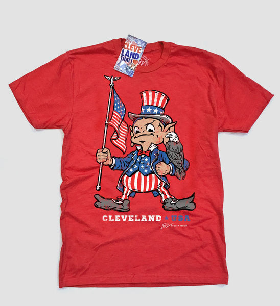 Red USA Team Cleveland T shirt