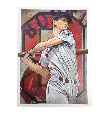 Ted Williams Original Artwork Fine Art Print