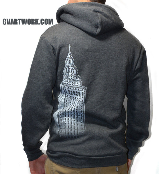 Cleveland Terminal Tower Zip Up Hoodie