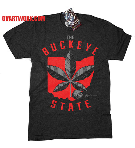 THE Buckeye State T shirt - Black