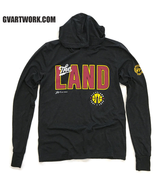 "Cleveland ""The Land"" Long Sleeve Hooded T shirt"