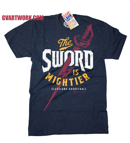 The Sword is Mightier Cleveland Basketball T shirt