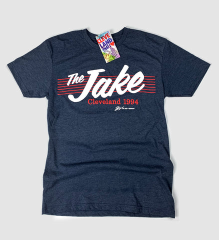 The Jake script T shirt Navy