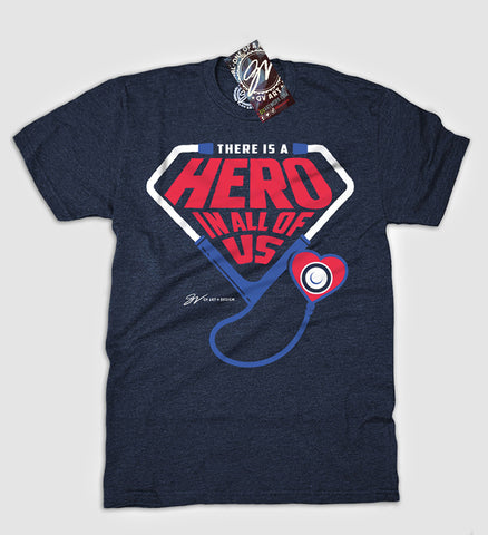 There Is A Hero In All Of Us T Shirt