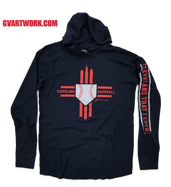 Cleveland Tribal Baseball Thermal Hoodie