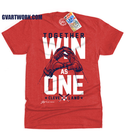 Cleveland Baseball Together Win As One T shirt