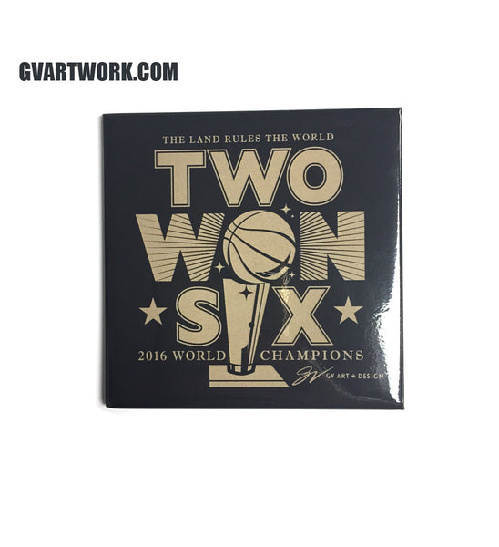 Cleveland Two Won Six Championship Magnet