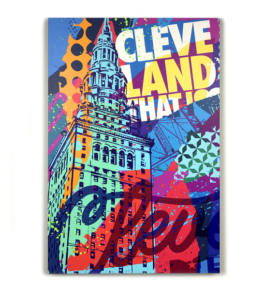 Vibrant Cleveland Terminal Tower Canvas Print
