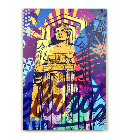 Vibrant Cleveland Guardian Canvas Print